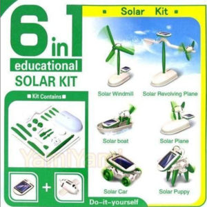 Solar powered educational toy
